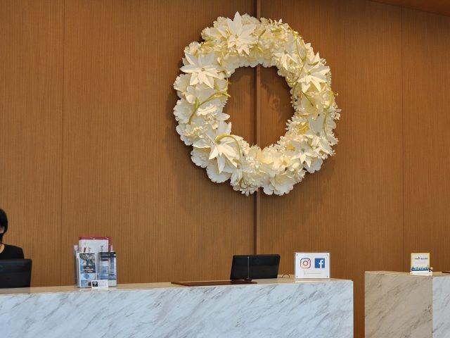 2017年名古屋JRゲートタワーホテル様クリスマスリースの装飾