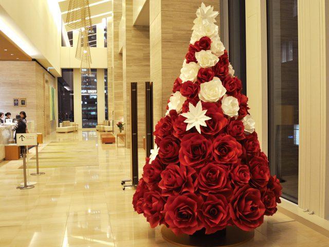 2018年名古屋JRゲートタワーホテル様クリスマスツリーの装飾