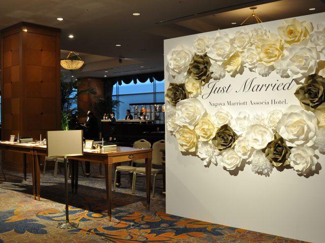 2019年名古屋マリオットアソシアホテル様ブライダルフェアのフォトブース装飾